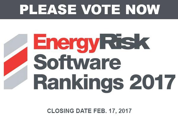 PLEASE VOTE: Energy Risk Software Rankings 2017