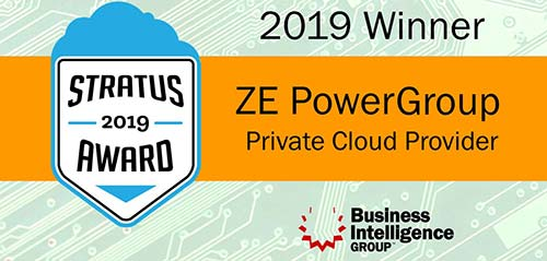 ZE wins Private Cloud Comupting 2019 Stratus Award