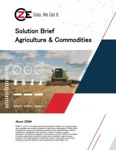 Solution Brief: Agriculture & Commodities