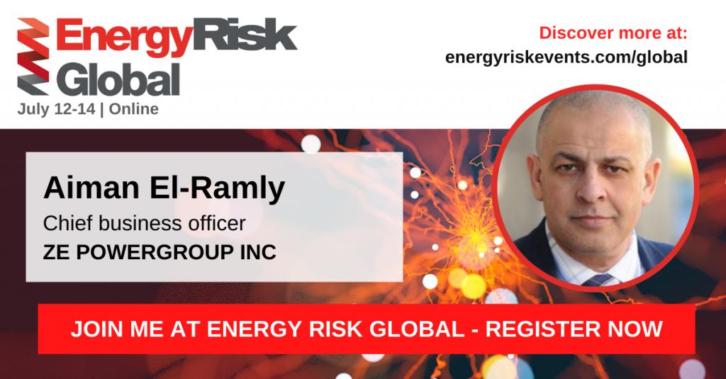 ZE is attending Energy Risk Global 2021