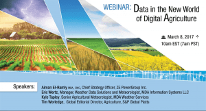 Data in the New World of Digital Agriculture - Webinar Recording