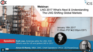 LNG 2017 What's Next and Understanding the LNG and Shifting Global Markets Webinar recording