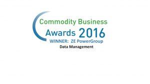 ZE PowerGroup Wins Prestigious Commodity Business Awards: Data Management 2016
