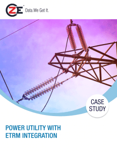 Power Utility with ETRM Integration